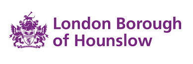 Image result for london borough of hounslow logo purple